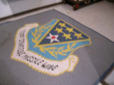 Mat with 321st Strategic Missile Wing insignia at Oscar Zero missile alert facility near...