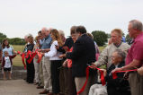Ribbon cutting for Oscar Zero missile alert facility grand opening near Cooperstown, N.D.
