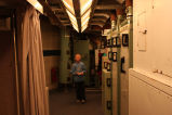Young boy on tour in sleeping area, Oscar Zero missile alert facility near Cooperstown, N.D.