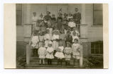 Elsie Milde at German School in Wishek, N.D.