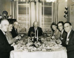 Dwight D. Eisenhower, C. Norman and Carrie Brunsdale and others dining