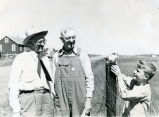 C. Norman Brunsdale visiting constituents, Fort Rice, N.D.