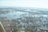 Aerial view of flooded residential area, Grand Forks, N.D.