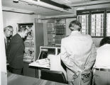 Arthur A. Link and others at dedication of state radio system facilities, Bismarck, N.D.