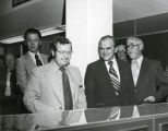 Arthur A. Link and Edward J. Klecker at state radio system dedication, Bismarck, N.D.