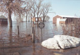 Flood waters in rural area, Red River Valley, N.D.