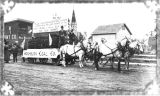 Washburn Coal Company float in parade, Bismarck, N.D.