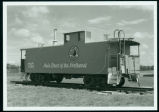 Northern Pacific Railway caboose, Dickinson, N.D.