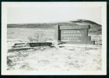 Fort Abraham Lincoln Park museum and concessions sign, N.D.