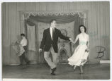 Mrs. Jack Shell and Gene dancing during Petroleum Wives Follies rehearsals, Bismarck, N.D.