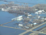 Aerial view of flooding, Glasston, N.D.