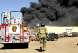 Fire at Johnson's Wrecking, Mandan, N.D.