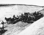 Cutting main North Dakota track for Midland Continental Railroad, Jamestown, N.D.