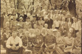 Bottineau County Old Settlers and Pioneers picnic group portrait, Bottineau, N.D.