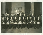 Group portrait Golden Jubilee Convocation, Grand Chapter Royal Arch Masons of North Dakota, Fargo, N.D.