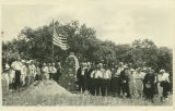 Dedication of cairn near site of the first home in Bottineau County, N.D.