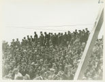 Crowd west of speakers stand at North Dakota State Capitol cornerstone laying ceremony, Bismarck,...