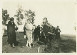 North Dakota Federation of Women's Clubs tree planting for Carl Ben Eielson, Capitol Grounds, Bismarck,
