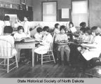 Bismarck Indian School classroom and students