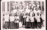 St. Mary's Catholic Church priests and altar boys, Bismarck, N.D.