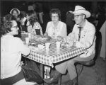William L. Guy and Jean Guy at meal, Midwest Governors 'Conference, Bismarck, N.D.