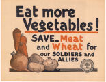 Eat more vegetables poster