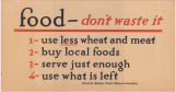 Food-- don't waste it poster