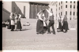 Dancing on North Dakota State Capitol steps, Bismarck, N.D.
