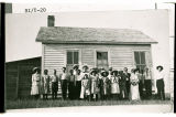 Sunday School at Boicourt School, 14 miles northwest of Fryburg, N.D.