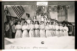 Bethel Baptist Church guild girls flag exercise, Powers Lake, N.D.