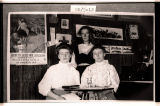 Lottie, Melvina, and Jean Lund in their home, Powers Lake, N.D.