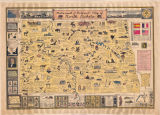 Historical and pictorial map of North Dakota