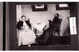 Mr. and Mrs. Erick Backman in their home near Slaughter, N.D.