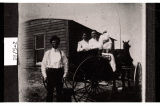 Edward and Minnie Krecklau with Bertha and John Krecklau, Blooming Valley Township, Divide County, N.D.