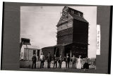 August Evers building new elevator, Binford, N.D.