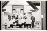 Students at Logan Center School 16 miles southeast of Larimore, N.D.