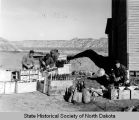 Civilian Conservation Corps members excavating Chateau de Mores wine cellar, Medora, N.D.