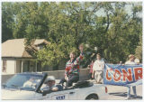 Kent Conrad campaigning in parade, Minot, N.D.