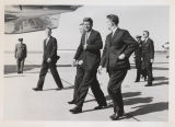 William L. Guy, John F. Kennedy and Quentin Burdick at Grand Forks Air Base, Grand Forks, N.D.