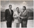 General Robert F. Seedlock, Governor Archie Gubbrud, and Governor William L. Guy at 1963 Missouri...