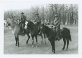 Park Rangers mounted for patrol and riot control, Turtle River State Park, N.D.