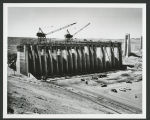 Construction of intake structure, Garrison Dam