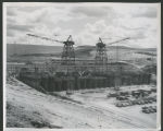 Intake structure under construction, Garrison Dam
