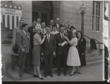 Quentin Burdick and William L. Guy with democratic workers at Fargo Post Office