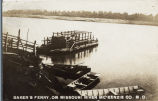 Baker's ferry, on Missouri River McKenzie Co. N.D.
