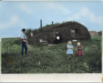 John Bakken sod house, Milton, North Dakota