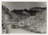 Automobile on road in Theodore Roosevelt National Memorial Park
