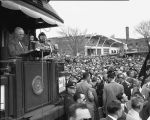 President Harry S. Truman speaking at Minot, N.D.