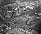 Aerial of University of North Dakota looking northeast, Grand Forks, N.D.