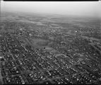 Aerial over Fargo, N.D. during spring flood of 1943